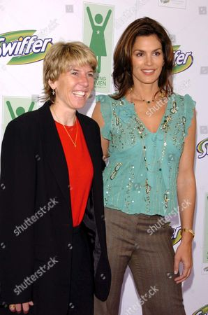 Stock Image of Andrea Jaeger and Cindy Crawford