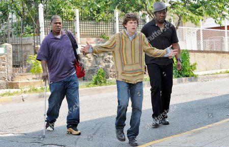 Stock Image of Tracy Morgan, Jesse Eisenberg, Isiah Jr, Whitlock