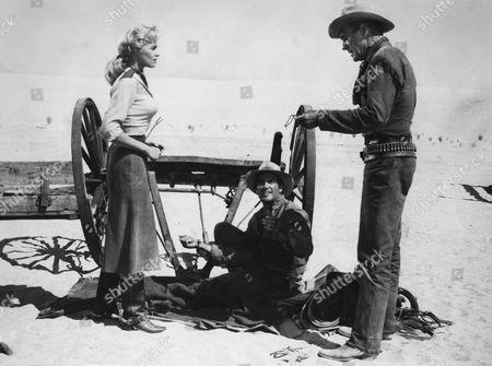 Karen Steele, James Best, Randolph Scott