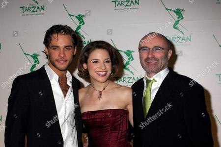 Stock Photo of Josh Strickland, Jennifer Gambatese and Phil Collins