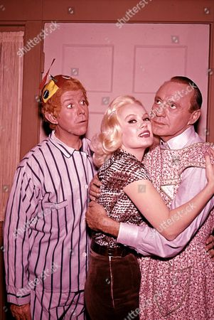 Stock Photo of Dennis Day, Mamie Van Doren, Jack Benny