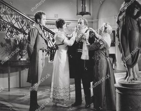 Stock Picture of Lesley Wareing (Lady Frances Webster) and George Arliss (Duke of Wellington)