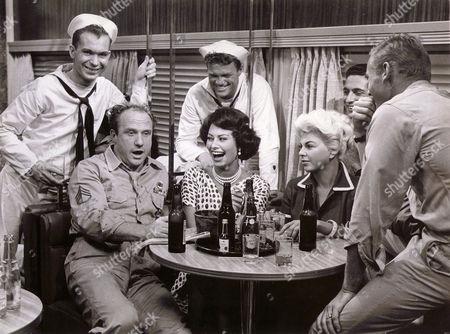 Stock Photo of Jack Warden, Sophia Loren, Barbara Nichols, Tab Hunter