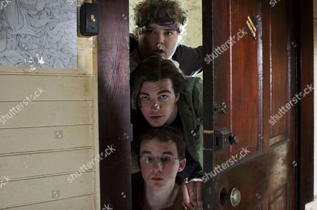 Stock Photo of Andrew Caldwell, Drake Bell, Kevin Covais