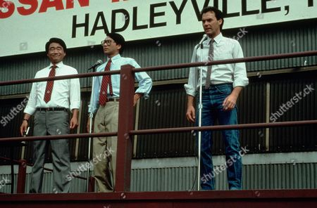 Stock Image of Gedde Watanabe, Michael Keaton