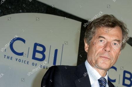 Editorial image of MARTIN BROUGHTON AT CBI HEADQUARTERS, LONDON, BRITAIN - 15 MAY 2006