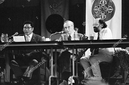Stock Photo of Chogyam Trungpa, William Burroughs, Allen Ginsberg