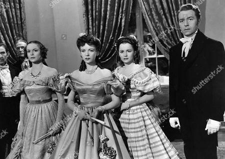Stock Photo of Nancy Coleman, Ida Lupino, Olivia De Havilland, Paul Henreid