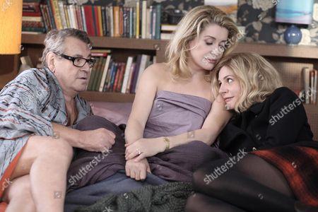 Stock Photo of Catherine Deneuve, Milos Forman, Chiara Mastroianni