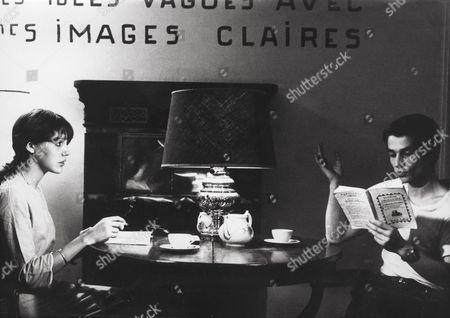 Stock Image of Anne Wiazemsky, Jean-Pierre Leaud
