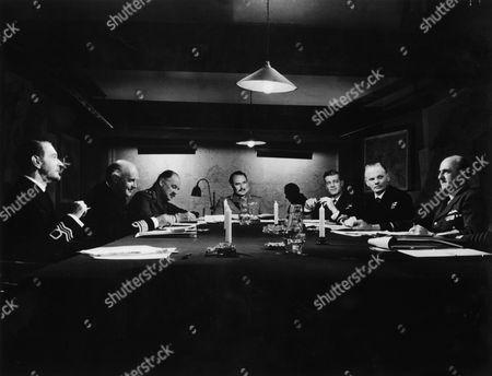 Clifton Webb, Laurence Naismith, Geoffrey Keen, Peter Williams, Allen Cuthbertson, Ewen Montagu