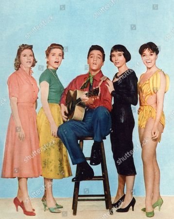 Jan Shepard, Dolores Hart, Elvis Presley, Carolyn Jones, Liliane Montevecchi