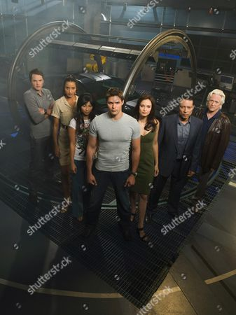 Stock Picture of Paul Campbell, Sydney Tamia Poitier, Smith Cho, Justin Bruening, Deanna Russo, Yancey Arias, Bruce Davison