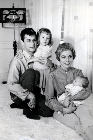 Stock Picture of Tony Curtis, Kelly Lee Curtis, Janet Leigh, Jamie Lee Curtis