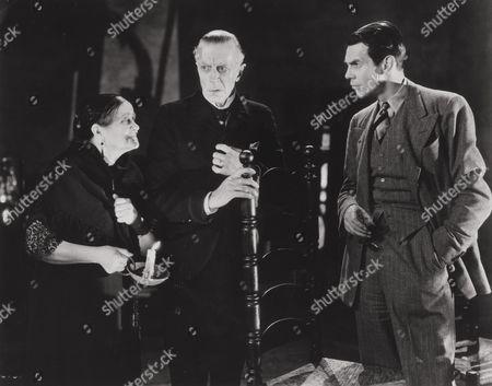 Eva Moore, Ernest Thesiger, Raymond Massey