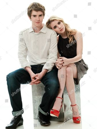 Stock Image of Freddie Highmore, Emma Roberts