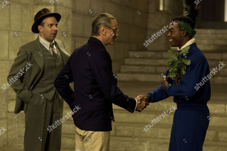 Stock Picture of Jason Sudeikis, Jeremy Irons, Stephan James