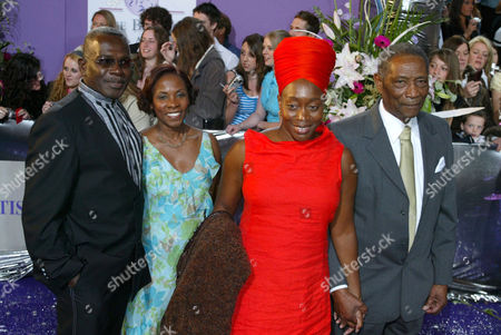 Rudolph Walker and guest with Angela Wynter and guest