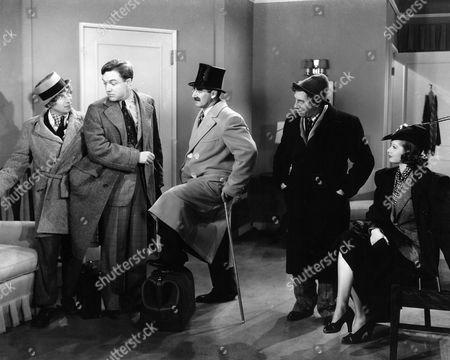 Harpo Marx, Frank Albertson, Groucho Marx, Chico Marx, Lucille Ball