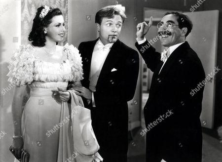 Ann Miller, Frank Albertson, Groucho Marx