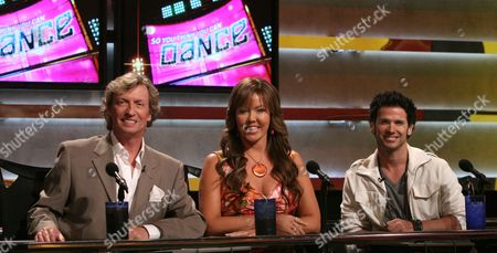 Stock Picture of Nigel Lythgoe, Mary Murphy, Tyce Diorio