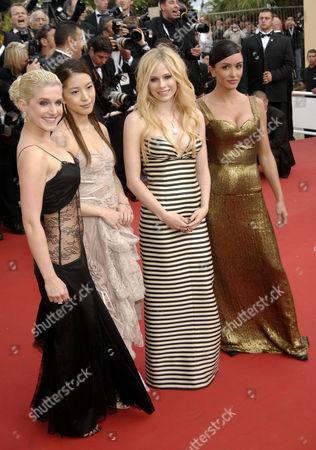 Jeanette Biedermann, BoA, Avril Lavigne and Jenifer Bartoli