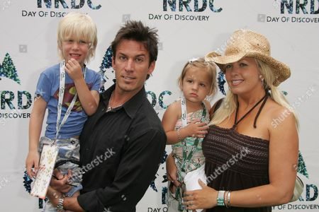 Dan Cortese, Dee Dee Hemby, children India Isabella and Roman