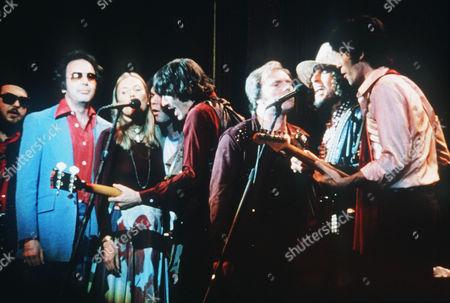 Dr John, Neil Diamond, Joni Mitchell, Neil Young, Rick Danko, Van Morrison, Bob Dylan, Robbie Robertson
