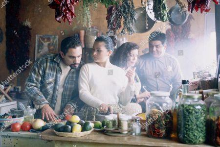 Stock Image of Jose Zuniga, Elpidia Carrillo, Debbie Chavez, George Lopez