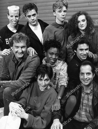 Stock Photo of Terry Sweeney, Robert Downey Jr, Anthony Michael Hall, Joan Cusack, Randy Quaid, Danitra Vance, Dennis Miller, Nora Dunn, Jon Lovitz