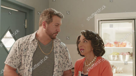 Stock Photo of Joey Fatone, Andrea Martin