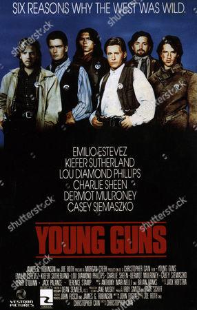 Stock Picture of Kiefer Sutherland, Charlie Sheen, Lou Diamond Phillips, Emilio Estevez, Casey Siemaszko, Dermot Mulroney