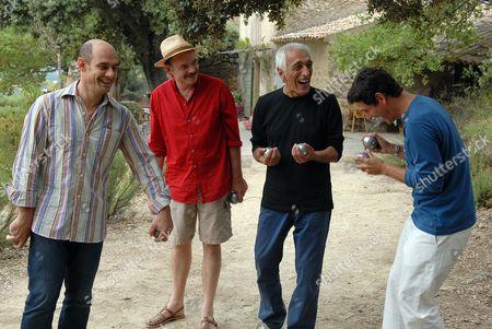 Stock Photo of Bernard Campan, Jean-Pierre Darroussin, Gérard Darmon, Marc Lavoine