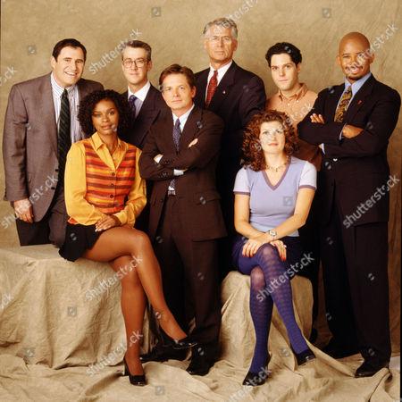 Stock Image of Richard Kind, Alan Ruck, Michael J. Fox, Barry Bostwick, Alexander Chaplin, Michael Boatman, Victoria Dillard, Connie Britton