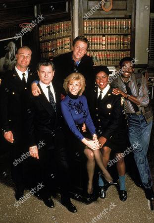 Stock Image of Richard Moll, John Larroquette, Harry Anderson, Markie Post, Marsha Warfield, Charlie Robinson