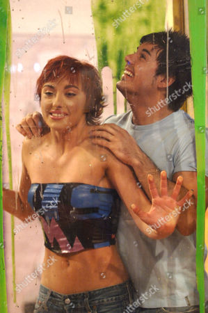 Stock Image of Monica of the Cheeky Girls and Anthony Hutton