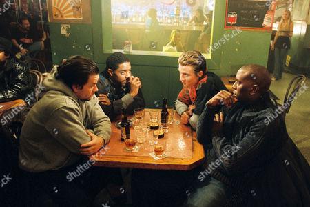 Stock Image of Mark Wahlberg, Andre / Andre 3000 Benjamin, Garrett Hedlund, Tyrese Gibson