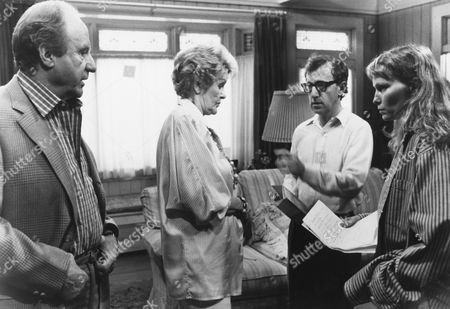 Stock Image of Jack Warden, Elaine Stritch, Woody Allen, Mia Farrow
