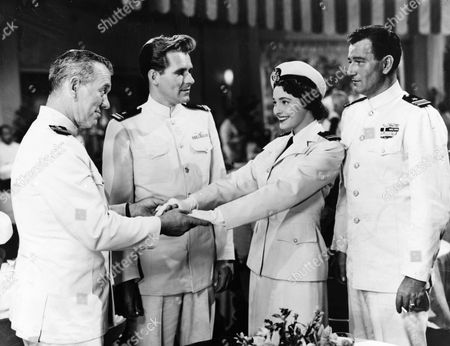 Ward Bond, Phil/Philip Carey, Patricia Neal, John Wayne