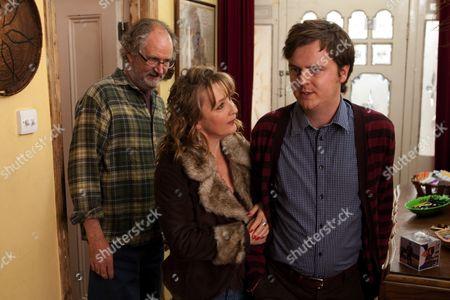 Stock Image of Jim Broadbent, Lesley Manville, Oliver Maltman