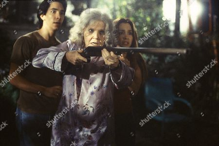 Stock Image of Justin Long, Eileen Brennan, Gina Philips