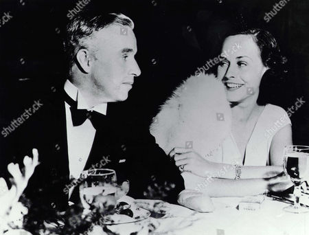 Stock Picture of Charlie Chaplin, Paulette Goddard