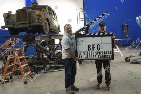 Stock Picture of Janusz Kaminski, Steven Spielberg