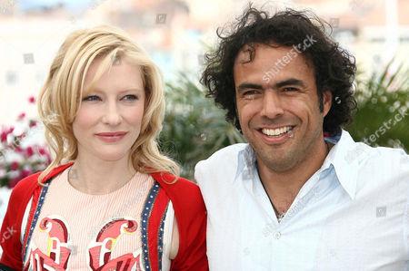 Cate Blanchett and director Alejandro Gonzales Inarritu