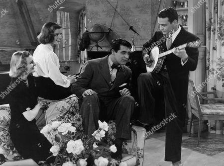 Stock Image of Doris Nolan, Katharine Hepburn, Cary Grant, Lew Ayres