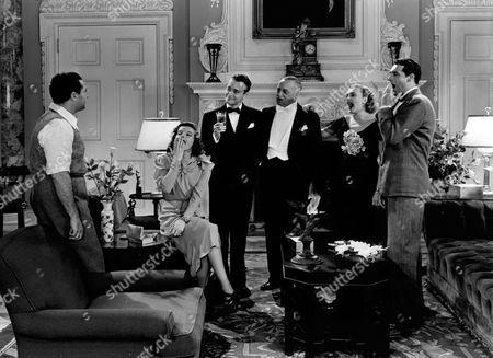 Stock Photo of George Cukor, Katharine Hepburn, Lew Ayres, Henry Kolker, Doris Nolan, Cary Grant
