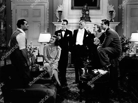 Stock Picture of George Cukor, Katharine Hepburn, Lew Ayres, Henry Kolker, Doris Nolan, Cary Grant