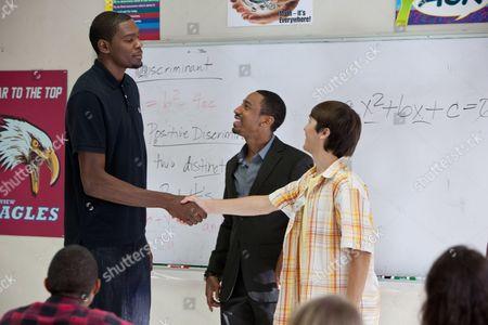 Kevin Durant, Brandon T. Jackson, Taylor Gray