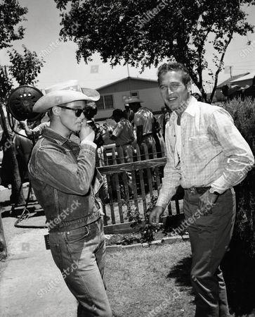Stock Photo of Brandon De Wilde, Paul Newman