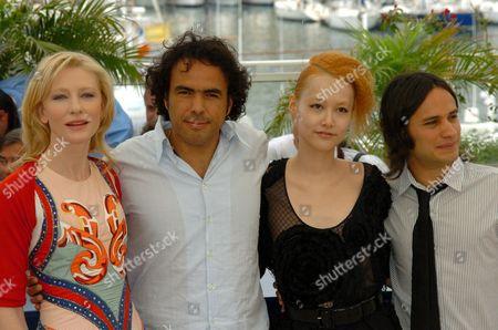 Cate Blanchett, Alejandro Gonzales Inarritu, Rinko Kikuchi and Gael Garcia Bernal